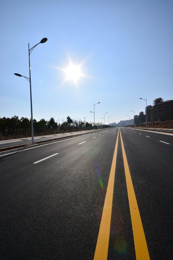 Дорога уличного фонаря стоковые фотографии rf