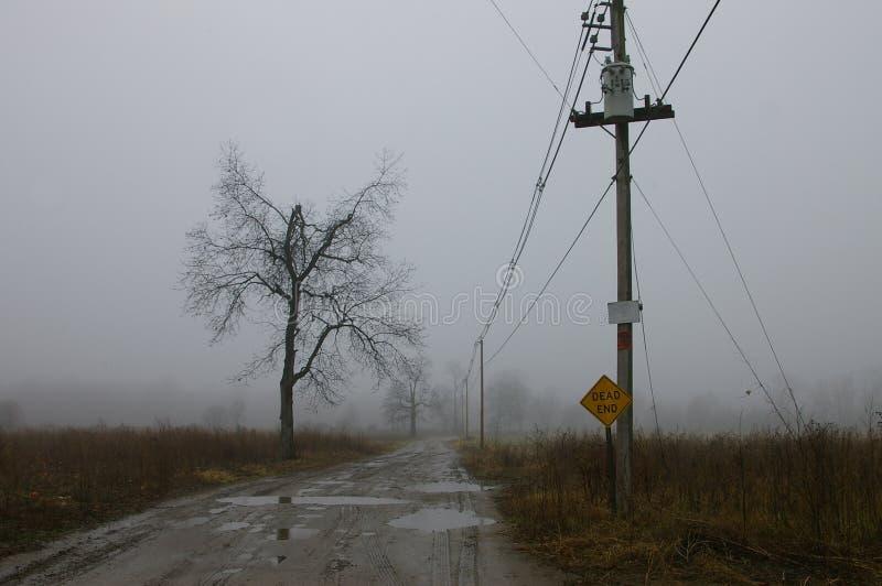 дорога фермы мглистая стоковая фотография rf