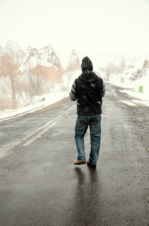 дорога человека стоковая фотография rf