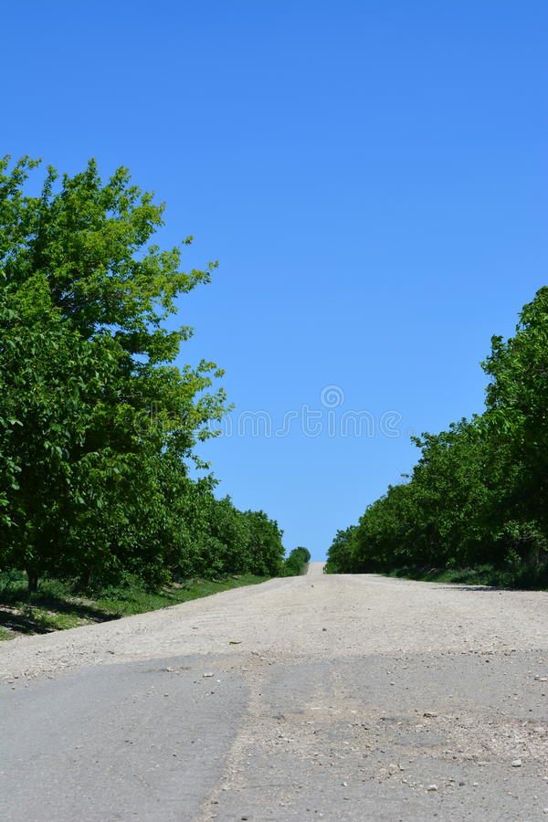 Дорога через валы стоковое фото