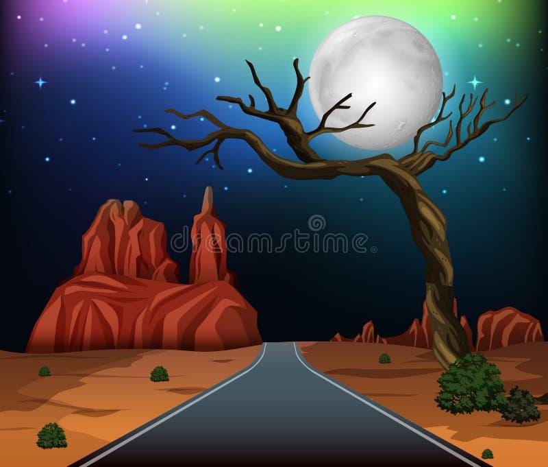 Дорога через пустыню бесплатная иллюстрация