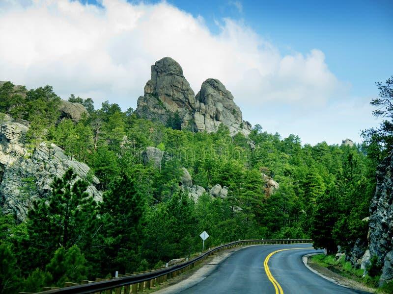 Дорога через Black Hills стоковое фото rf