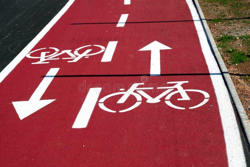 дорога bike стоковое изображение rf