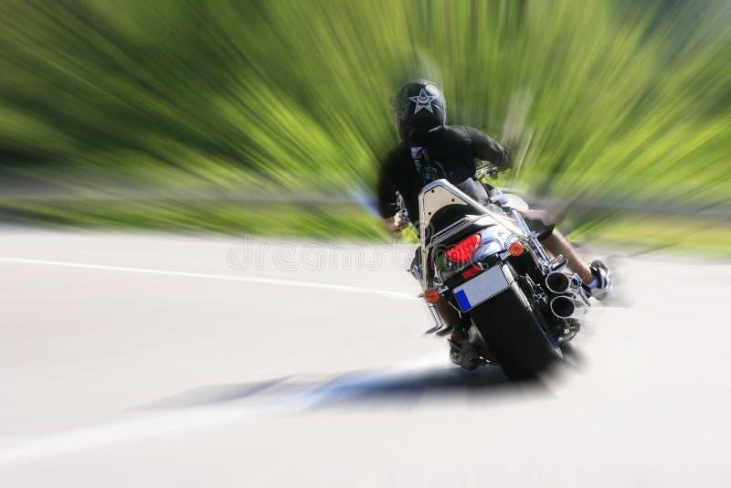 дорога motorcyclist стоковое изображение rf