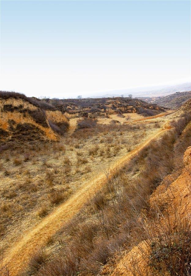 дорога shanxi плато loess стоковые изображения