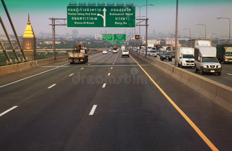 Дорога Sukhumvit стоковая фотография rf