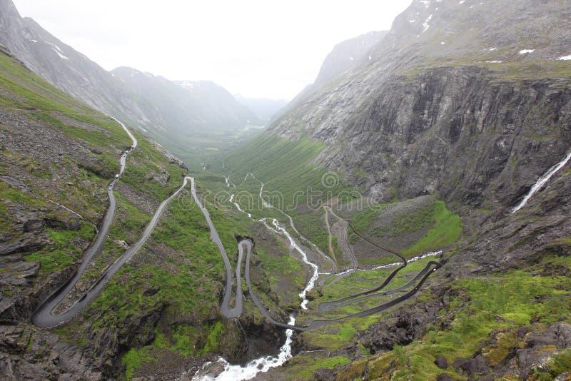 Дорога Trolls в Норвегии стоковые изображения rf