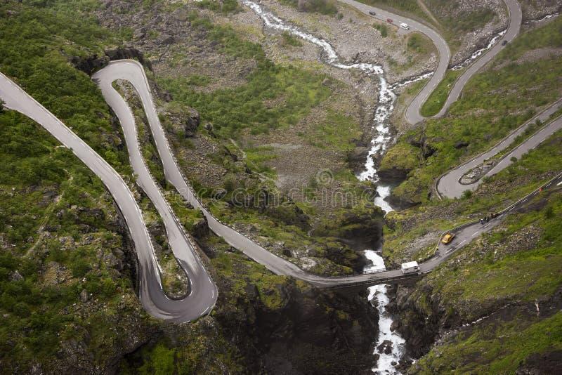 Дорога Trollstigen стоковая фотография