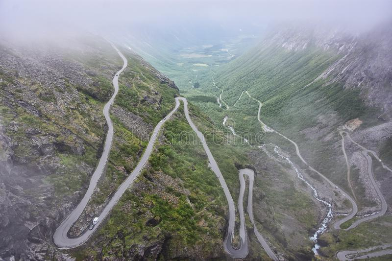 Дорога Trollstigen стоковая фотография rf