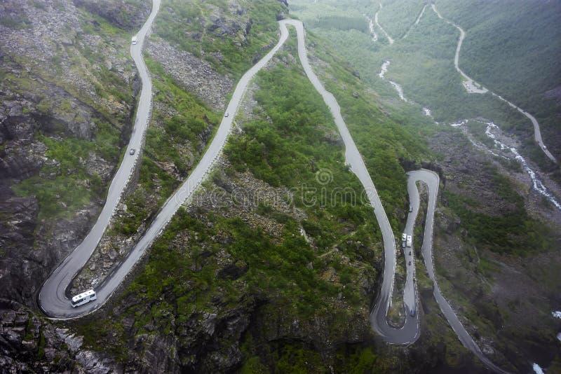 Дорога Trollstigen стоковое изображение rf
