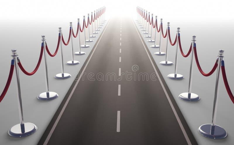 Дорога VIP бесконечная иллюстрация штока
