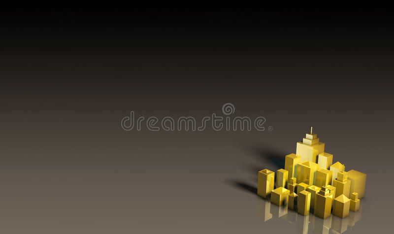 дорогее золотистое свойство иллюстрация вектора