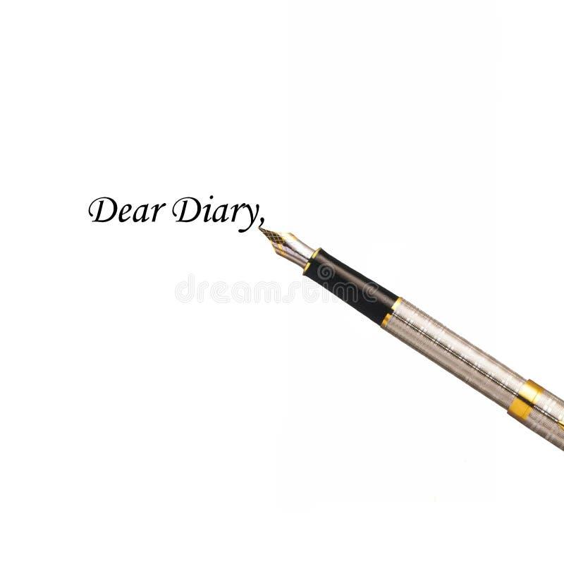 дорогой дневник стоковое изображение rf