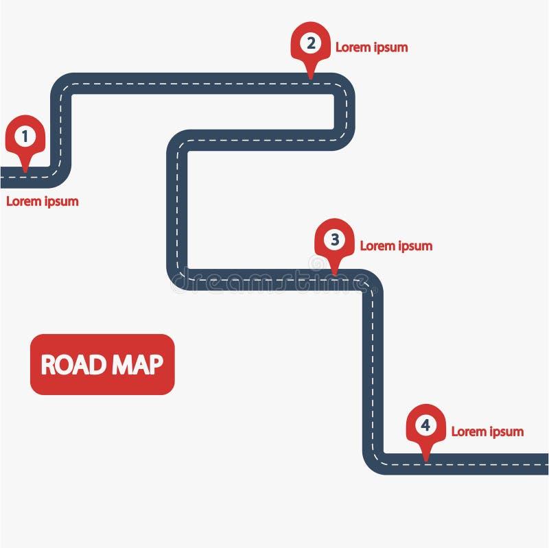 Дорожная карта автомобиля иллюстрация штока