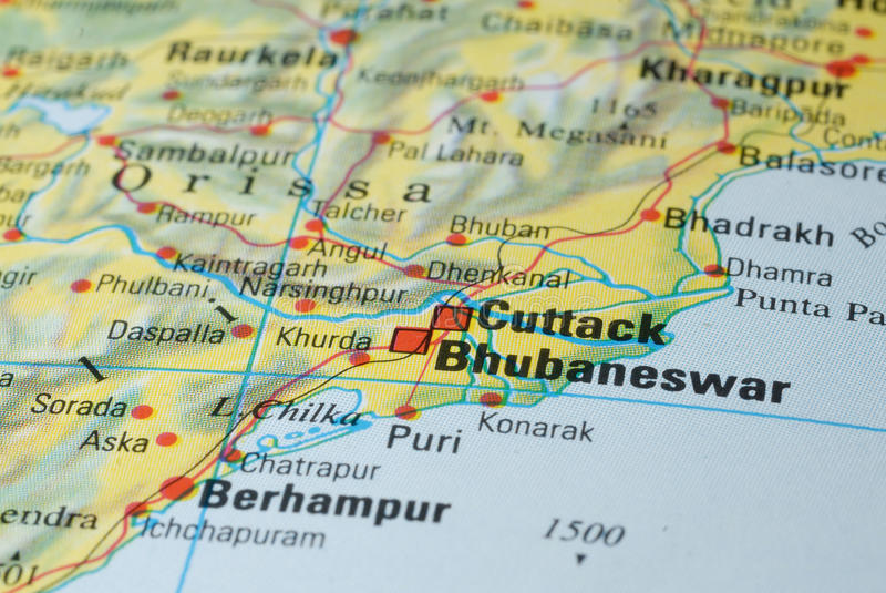 Дорожная карта Cuttack стоковое фото rf