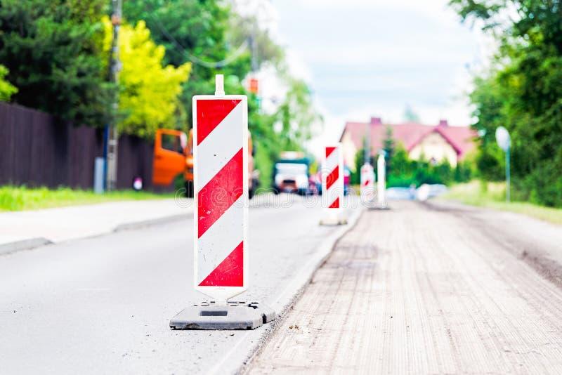 Дорожная работа лета Возобновление дороги стоковые изображения rf
