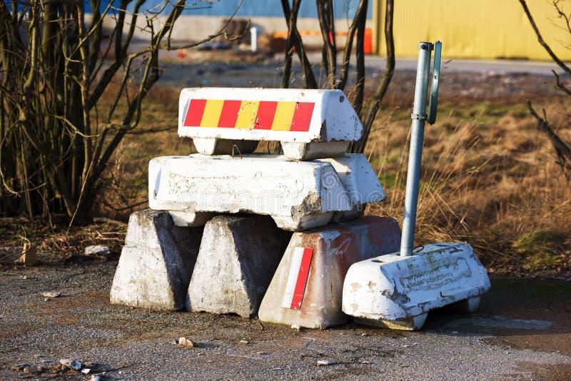Дорожные блоки стоковая фотография