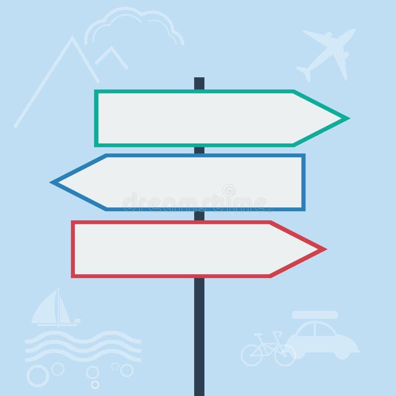 Дорожные знаки вектора внутри иллюстрация штока