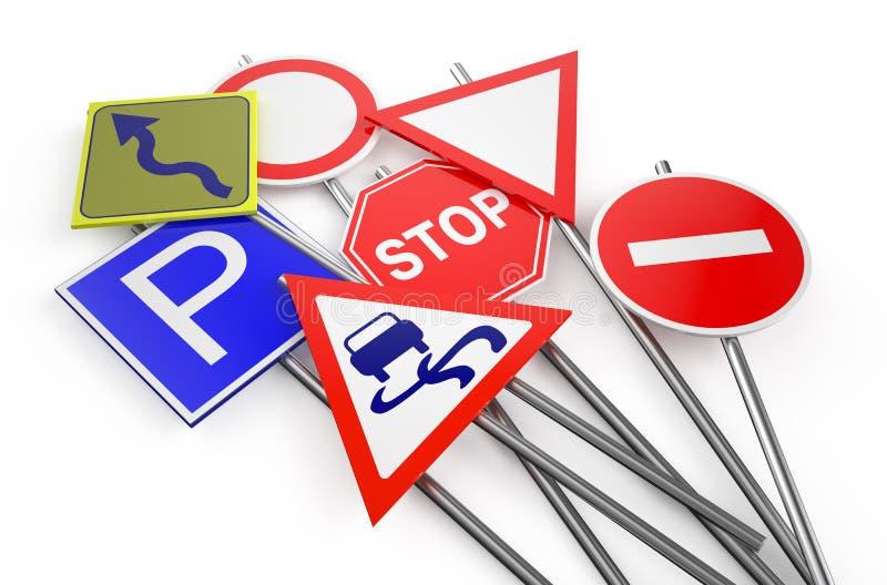 Дорожные знаки запаса иллюстрация штока