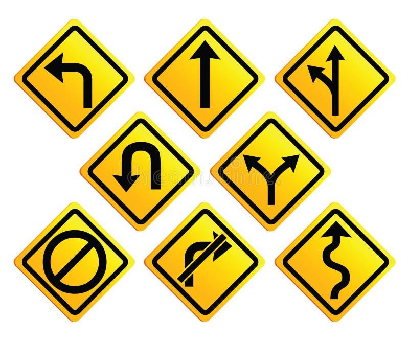 дорожные знаки стрелок иллюстрация штока