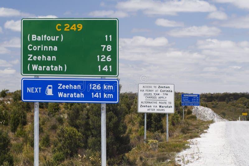 дорожные знаки стоковое изображение