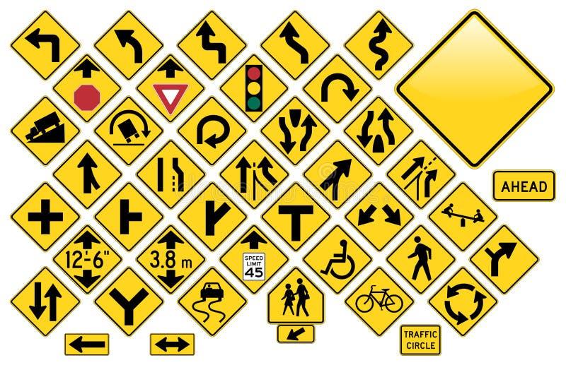 дорожные знаки иллюстрация вектора