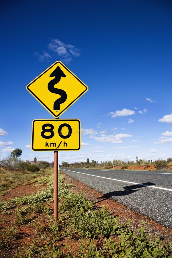 дорожный знак Австралии стоковое изображение