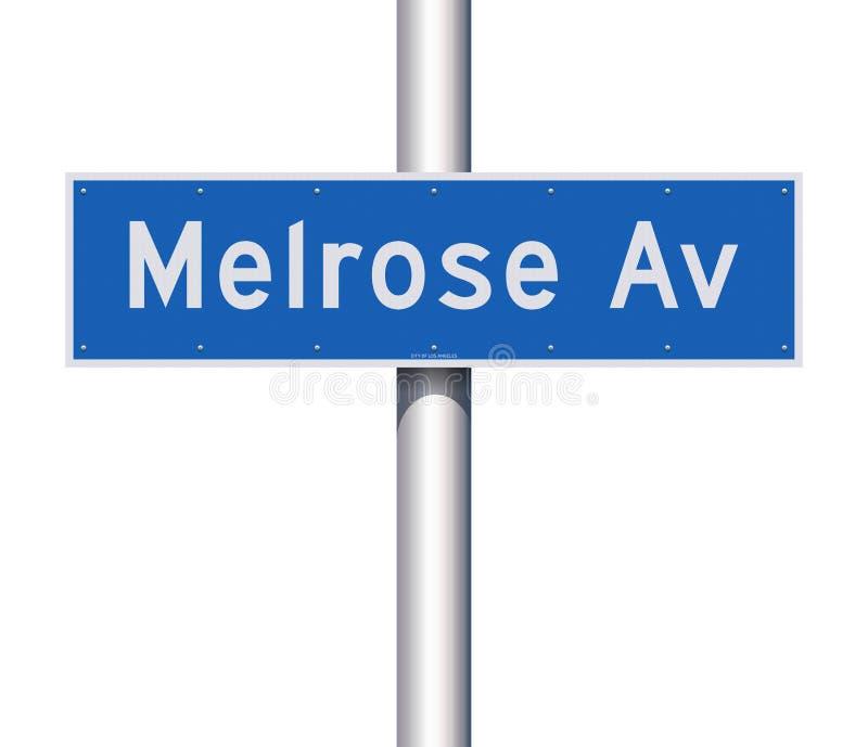 Дорожный знак бульвара Мелроуза бесплатная иллюстрация