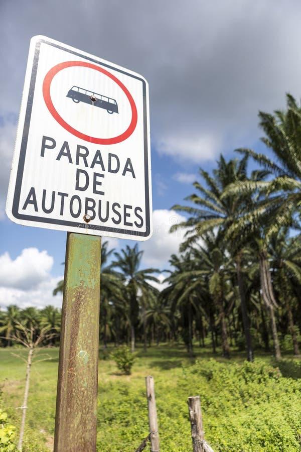 Дорожный знак движения в Коста-Рика стоковая фотография rf