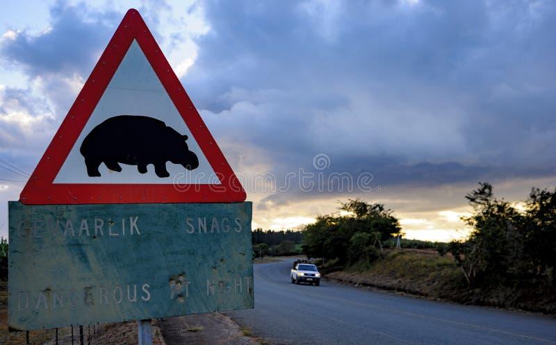 Дорожный знак в Южной Африке стоковые изображения