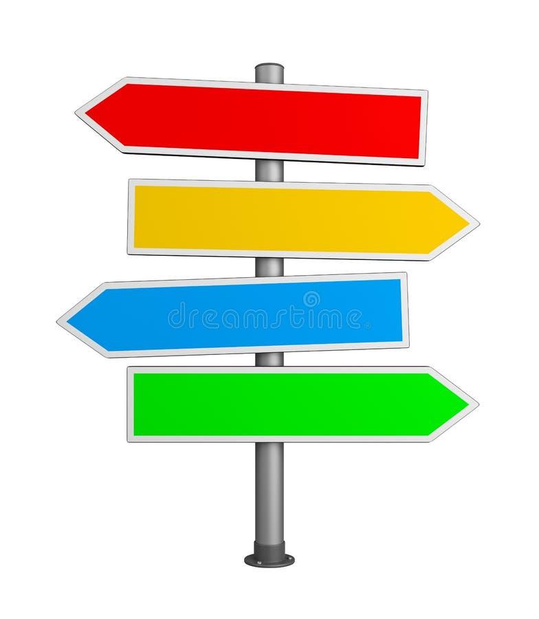 Дорожный знак дирекционных стрелок иллюстрация вектора