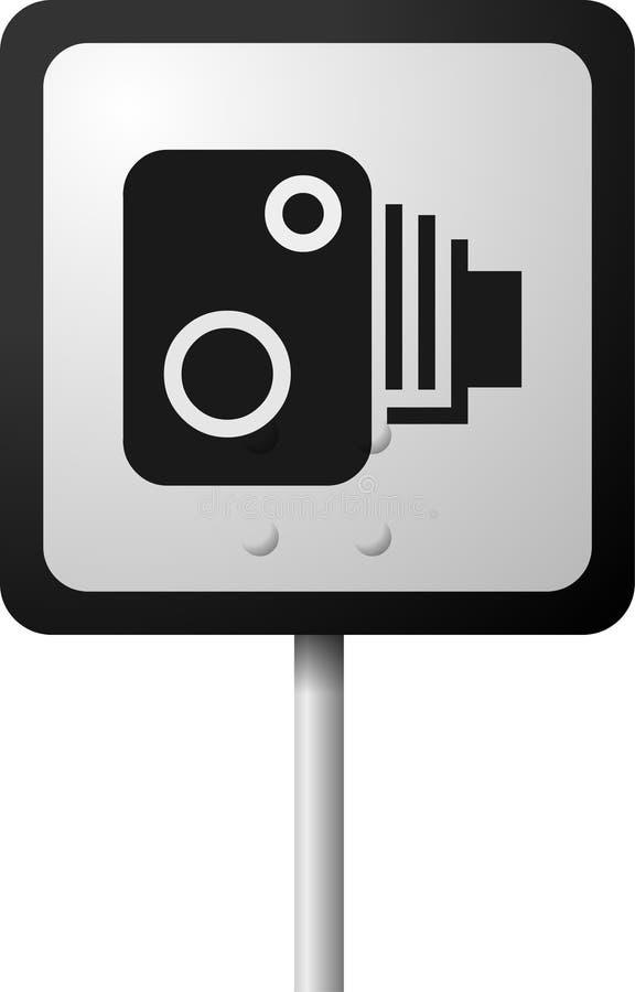 дорожный знак камеры старый иллюстрация штока