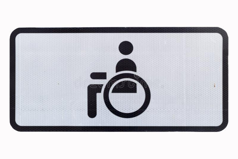 Дорожный знак квадрата автостоянки гандикапа изолированный на белизне иллюстрация штока