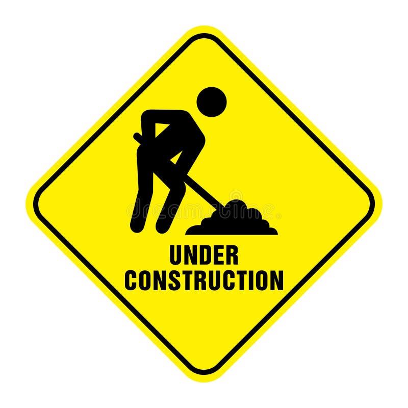 дорожный знак конструкции вниз стоковое изображение rf