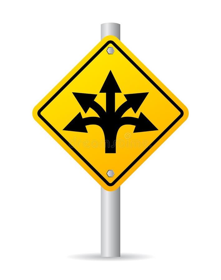 Дорожный знак направления иллюстрация вектора