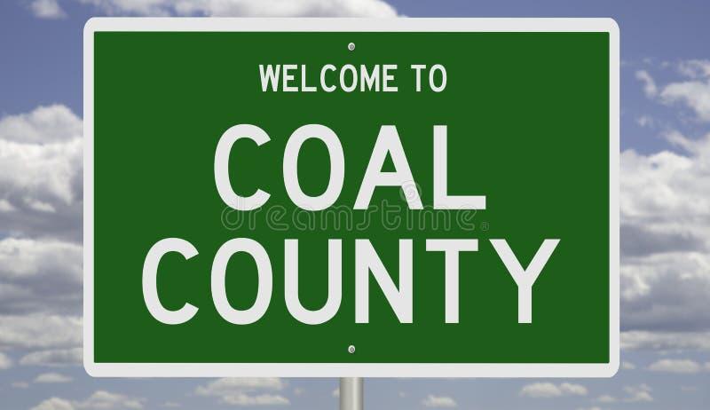 Дорожный знак округа Уголь иллюстрация штока