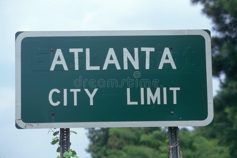 Дорожный знак предела города Alanta стоковое фото