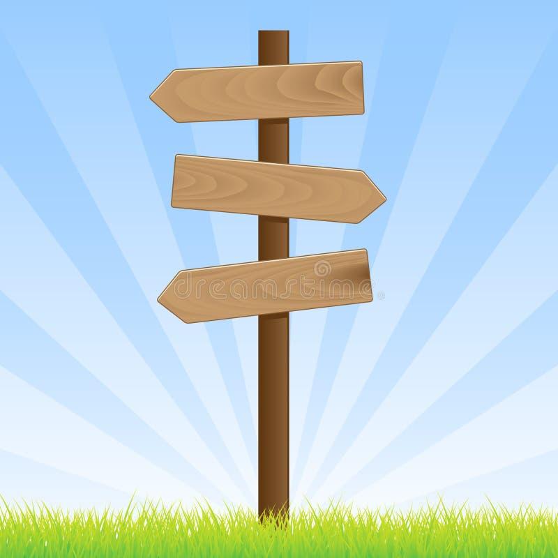 дорожный знак столба иллюстрация вектора