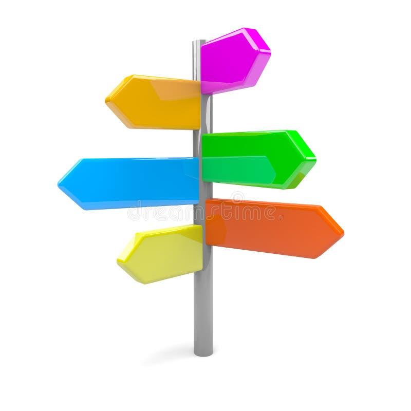 Дорожный знак стрелок Directionl иллюстрация вектора