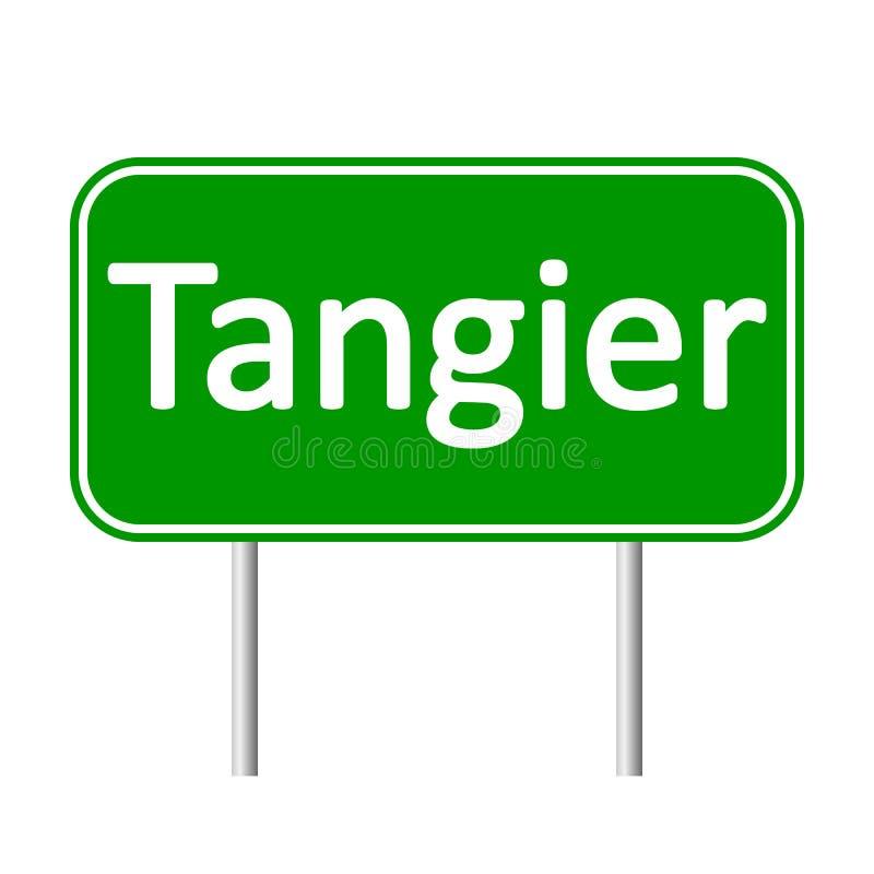 Дорожный знак Танжера иллюстрация вектора