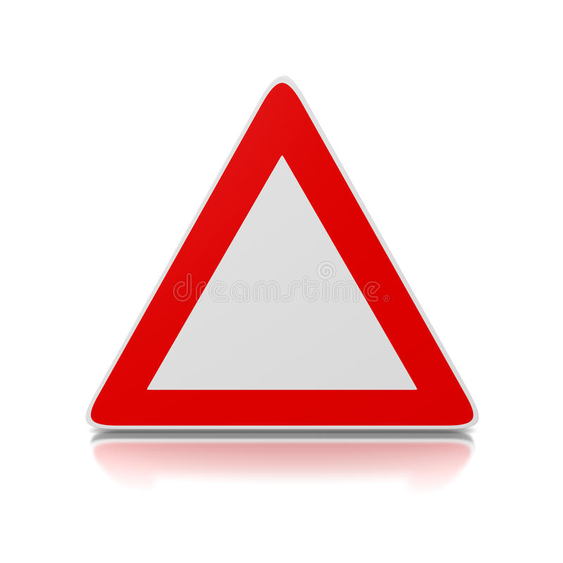 Дорожный знак треугольника иллюстрация штока