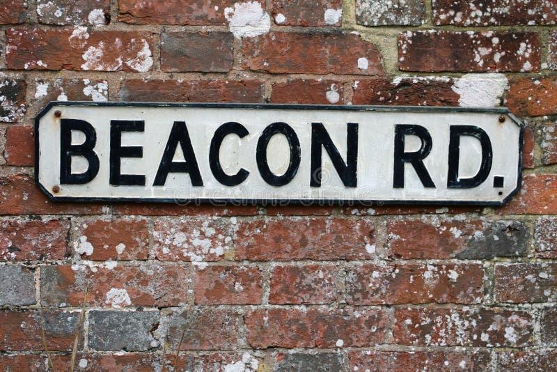 Дорожный знак Brecon Rd стоковая фотография