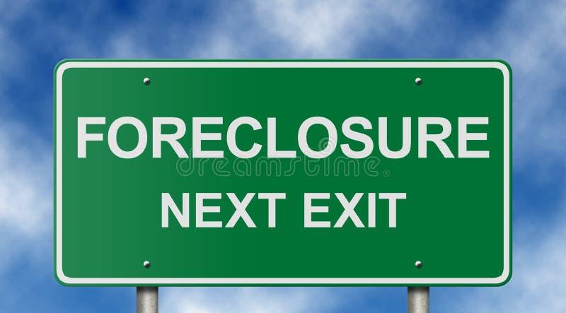 дорожный знак foreclosure стоковое изображение rf