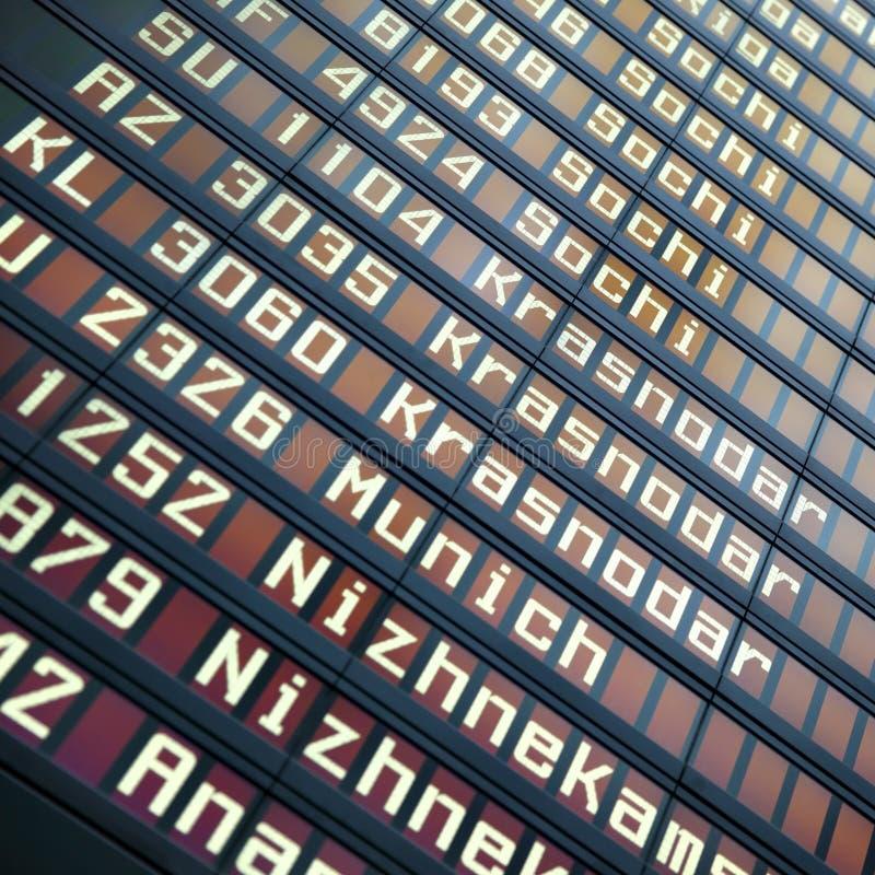 Доска данным по полетов стоковые фото