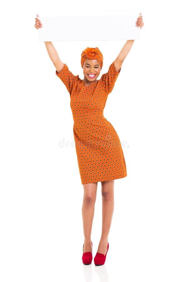 Доска африканской женщины белая стоковая фотография
