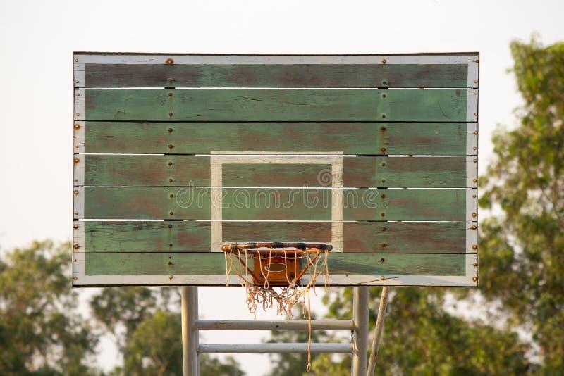 Доска баскетбола деревянная стоковая фотография rf