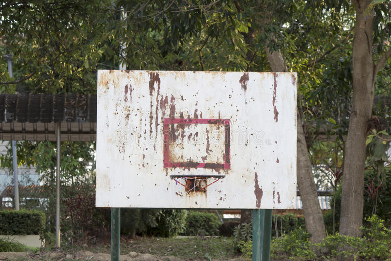 Доска баскетбола железная пакостна стоковые фото