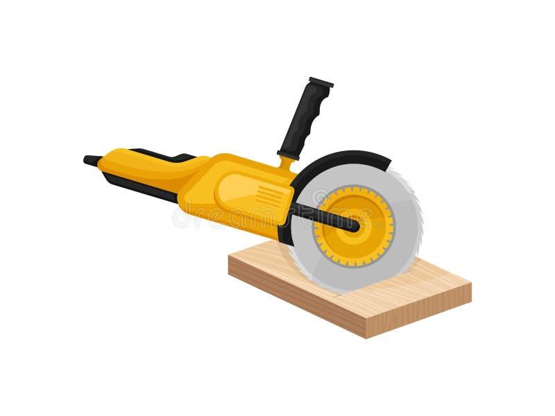 Доска желтой электрической пилы пиля r бесплатная иллюстрация