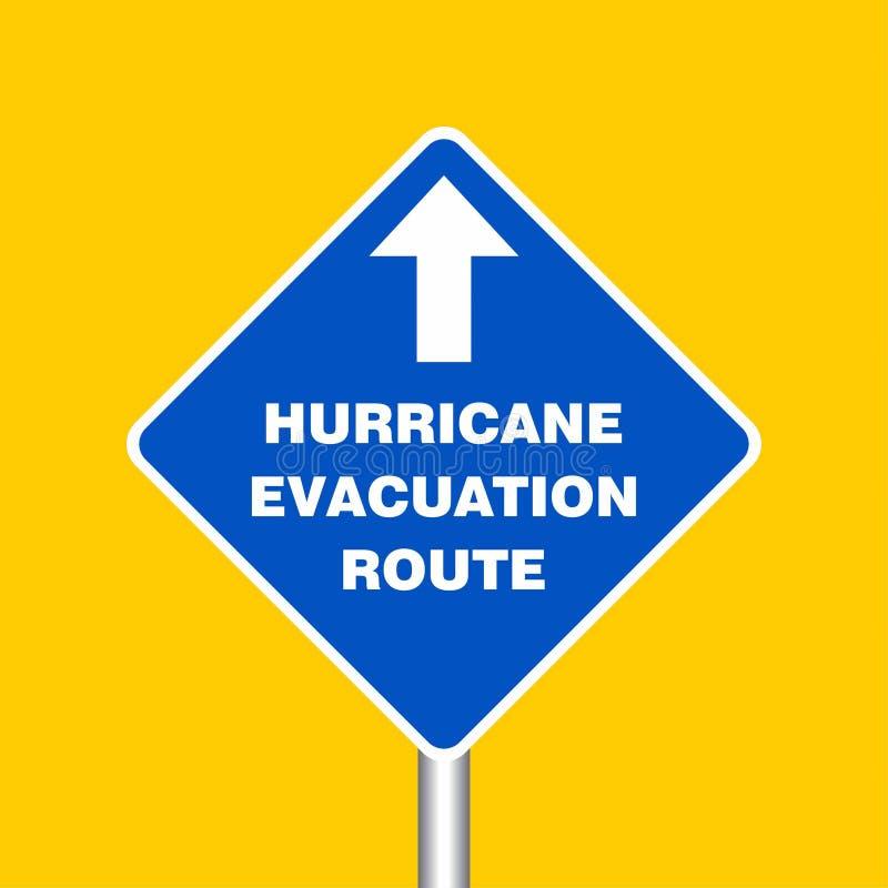 Доска знака трассы опорожнения урагана, индикация урагана Gra иллюстрация вектора