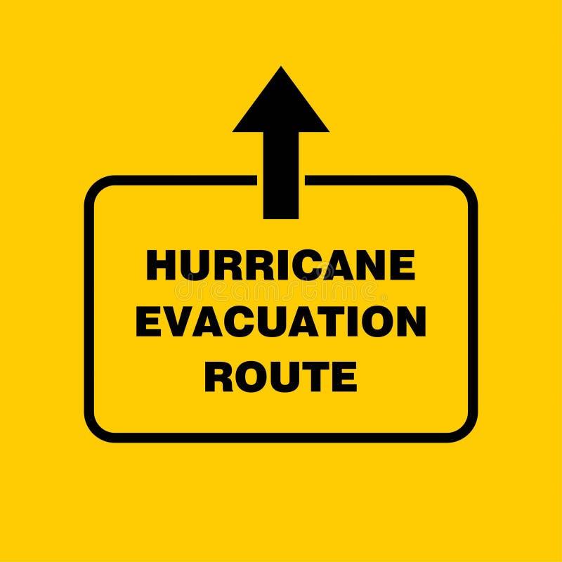 Доска знака трассы опорожнения урагана, индикация урагана Gra иллюстрация штока